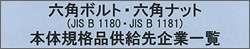 六角ボルト・六角ナット(JIS B 1180・JIS B 1181)本体規格品の供給先企業一覧について